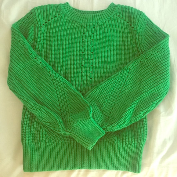 H&M Kelly Green Sweater